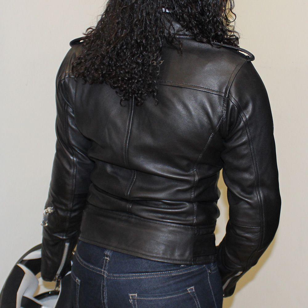 Jaqueta Tutto Moto Fashion Couro Lady Feminina - Super Queima   - Nova Suzuki Motos e Acessórios
