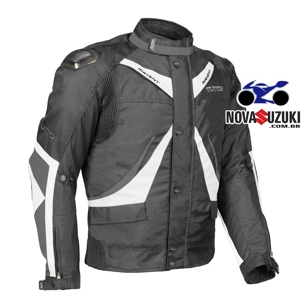 5498954a02 Jaqueta Tutto Moto Napoli Branca (Mais Vendida) Grade Completa - Nova  Suzuki Motos e ...
