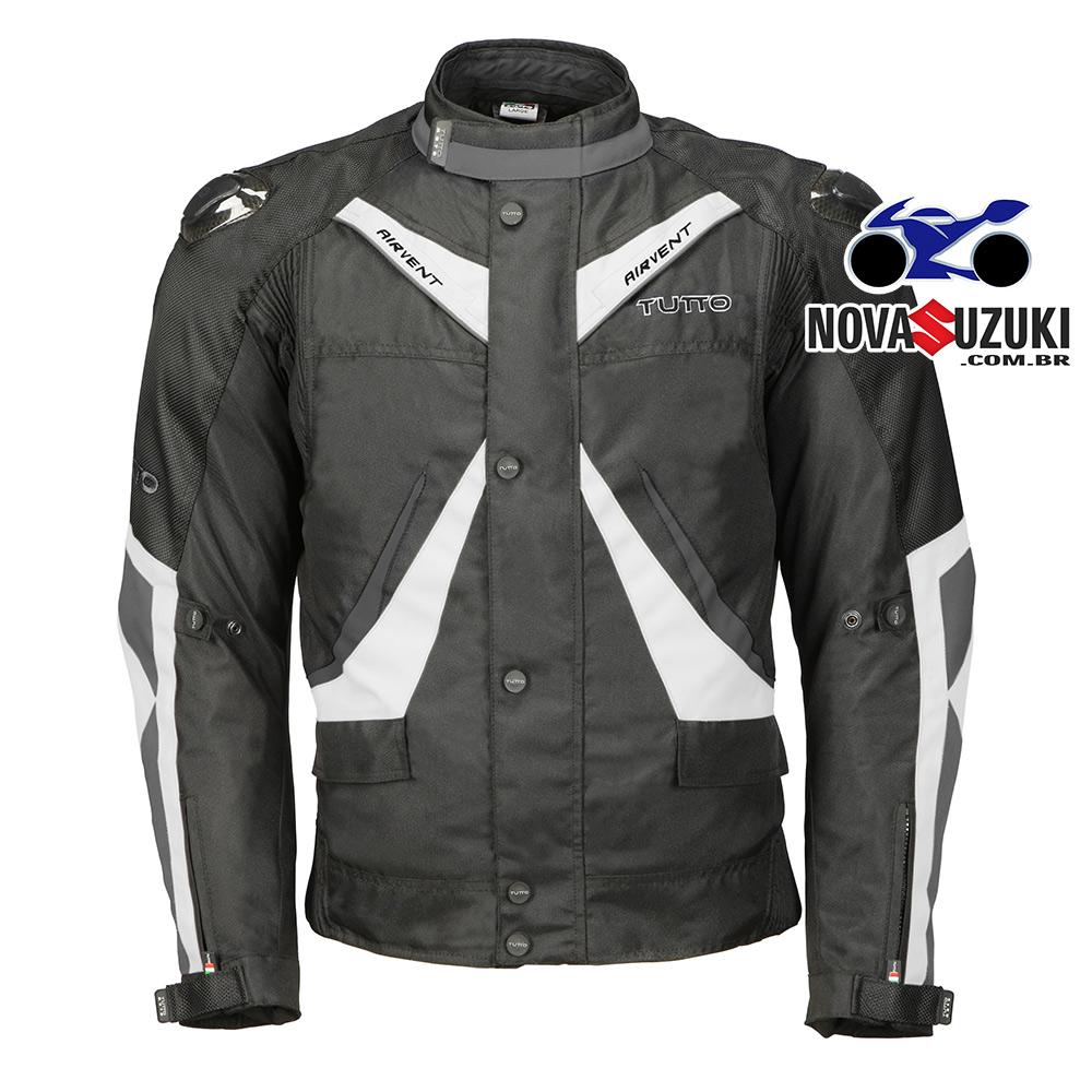 0  Jaqueta Tutto Moto Napoli Branca Impermeável  - Oferta Black Friday  - Nova Suzuki Motos e Acessórios