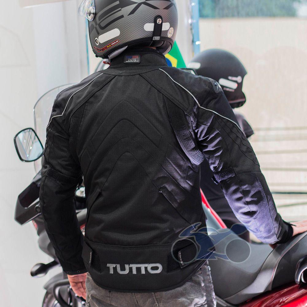 Jaqueta Tutto New Secca Preta 100% Impermeável  - Nova Suzuki Motos e Acessórios