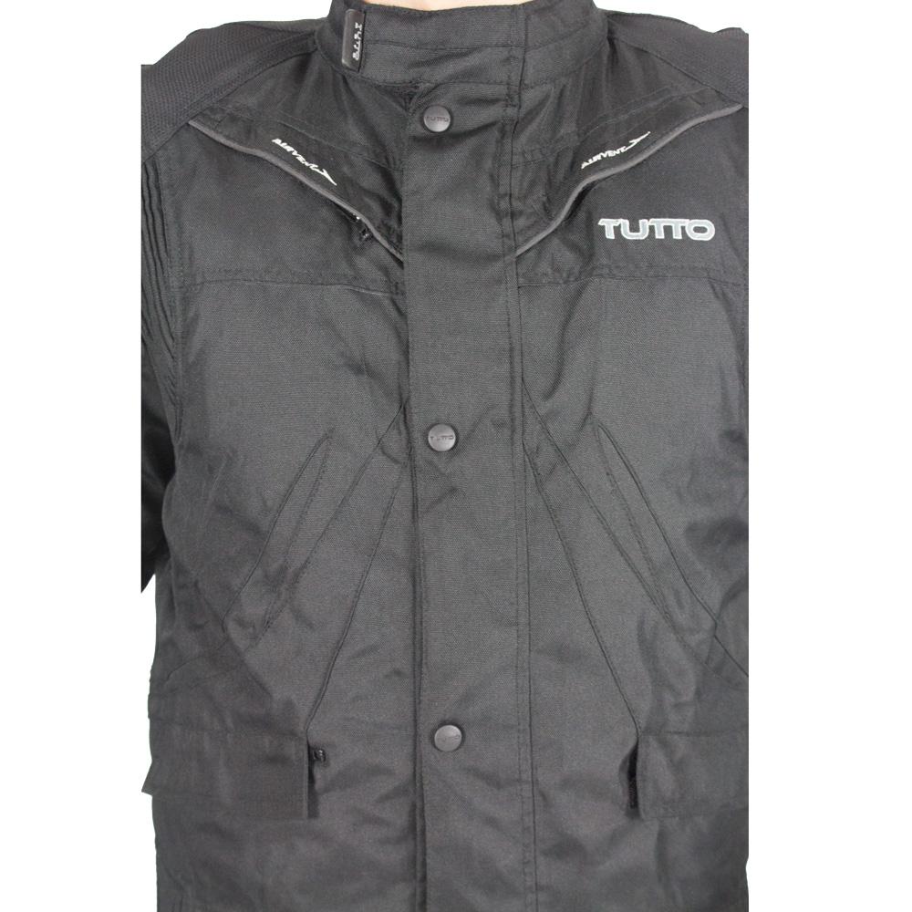 Jaqueta Tutto Racing Preta 100% Impermeável   - Nova Suzuki Motos e Acessórios