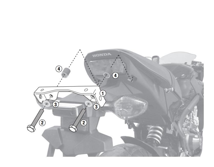 Kit 1137 para Instalação de Suporte Lateral PLX 1137 ou TE 1137) (CONSULTE-NOS)  - Nova Suzuki Motos e Acessórios