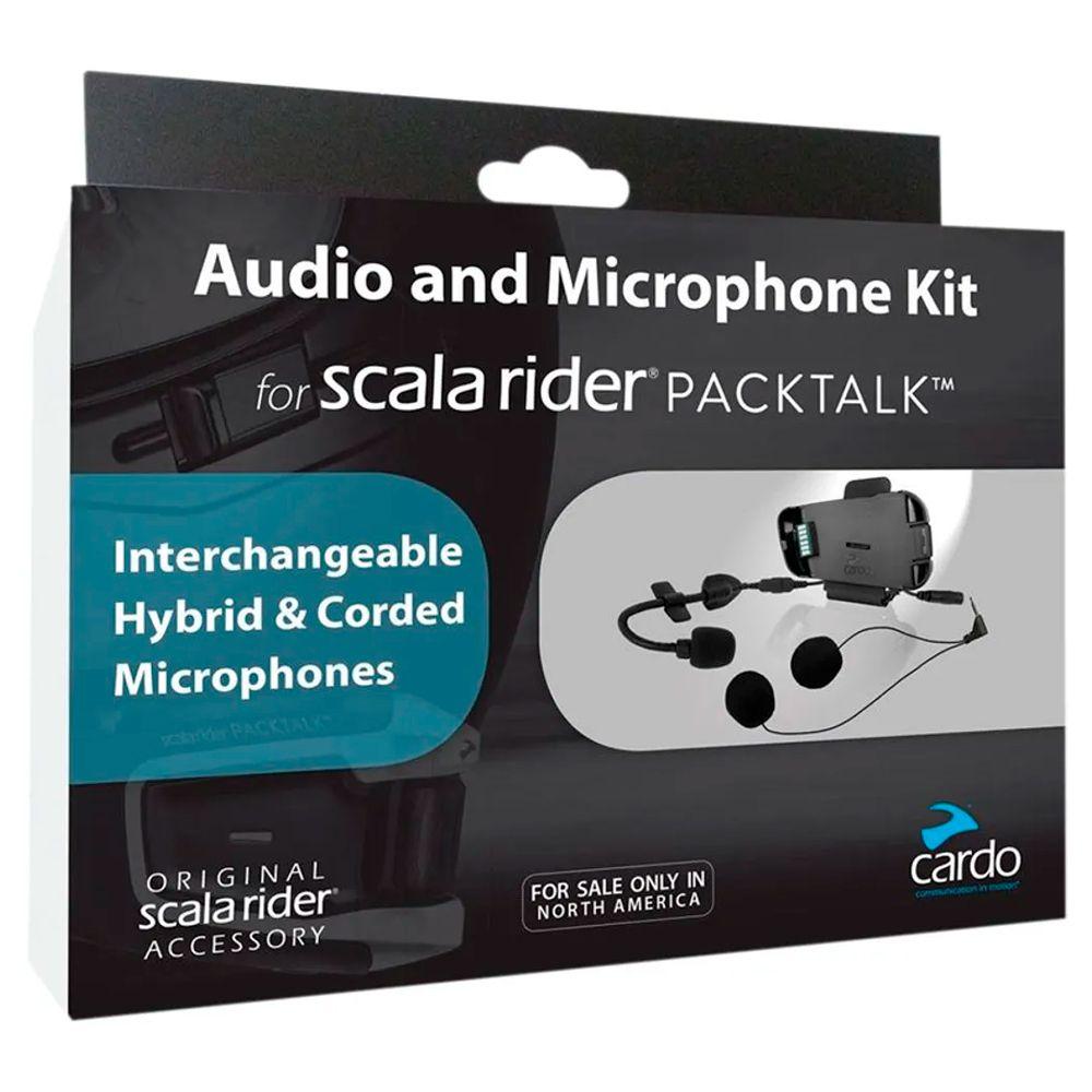 Kit Audio & Microfone Cardo Scala Rider P/ Packtalk  - Nova Suzuki Motos e Acessórios