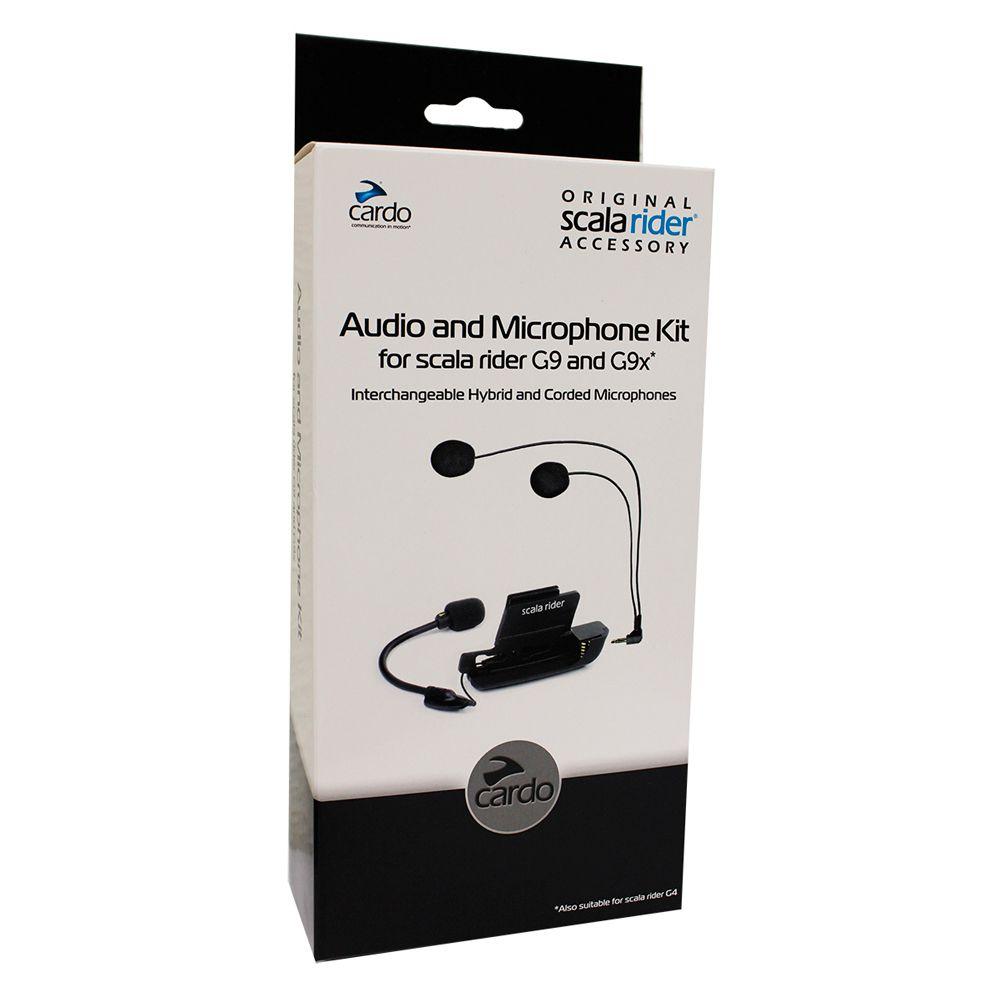 Kit Audio e Microphone Cardo p/ G9  - Nova Suzuki Motos e Acessórios