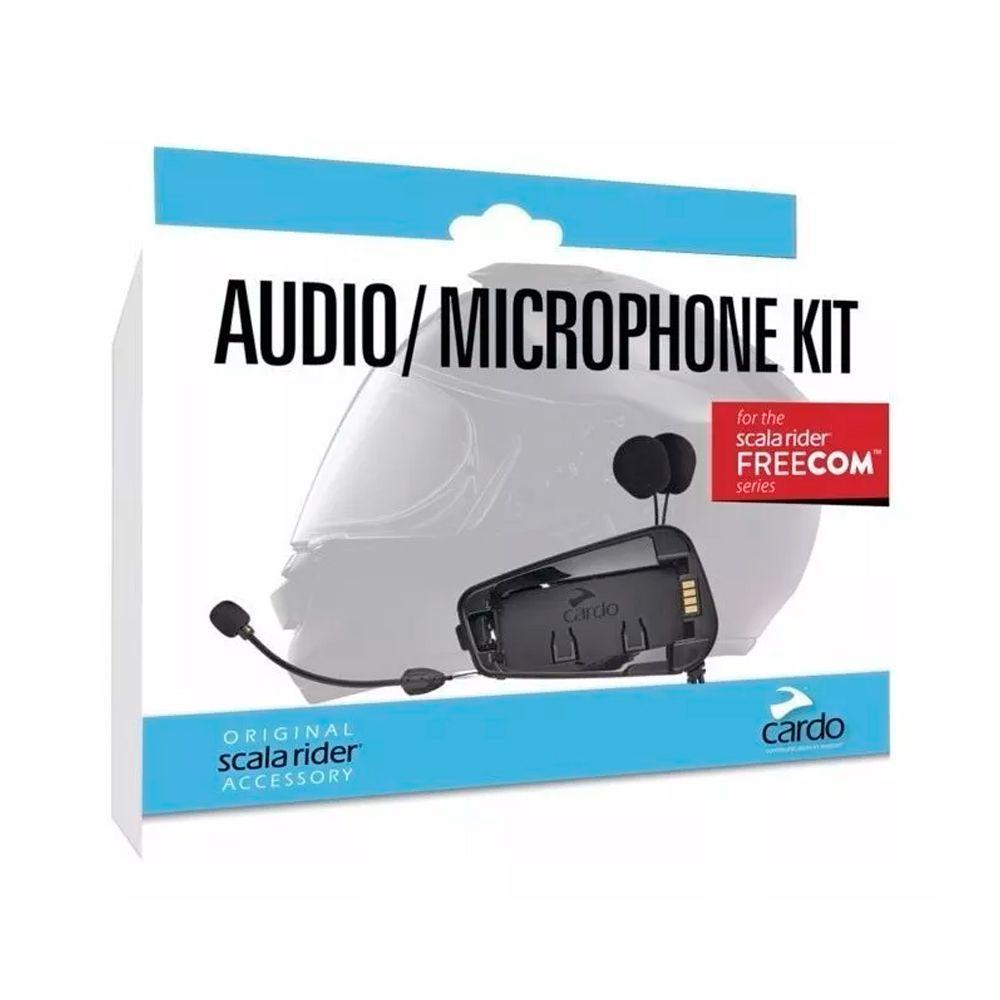 Kit Audio e Microphone Kit Cardo p/ Freecom 1/2 e 4  - Nova Suzuki Motos e Acessórios