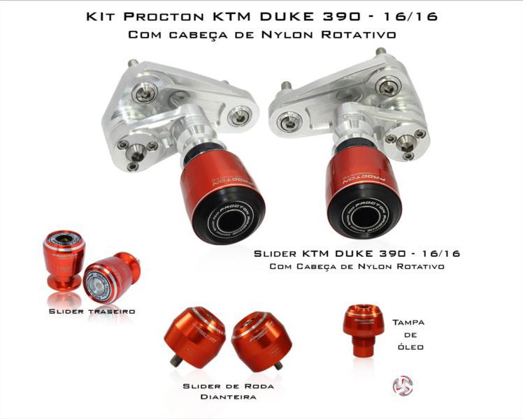 KIT Procton KTM Duke 390 16-16  - Nova Suzuki Motos e Acessórios