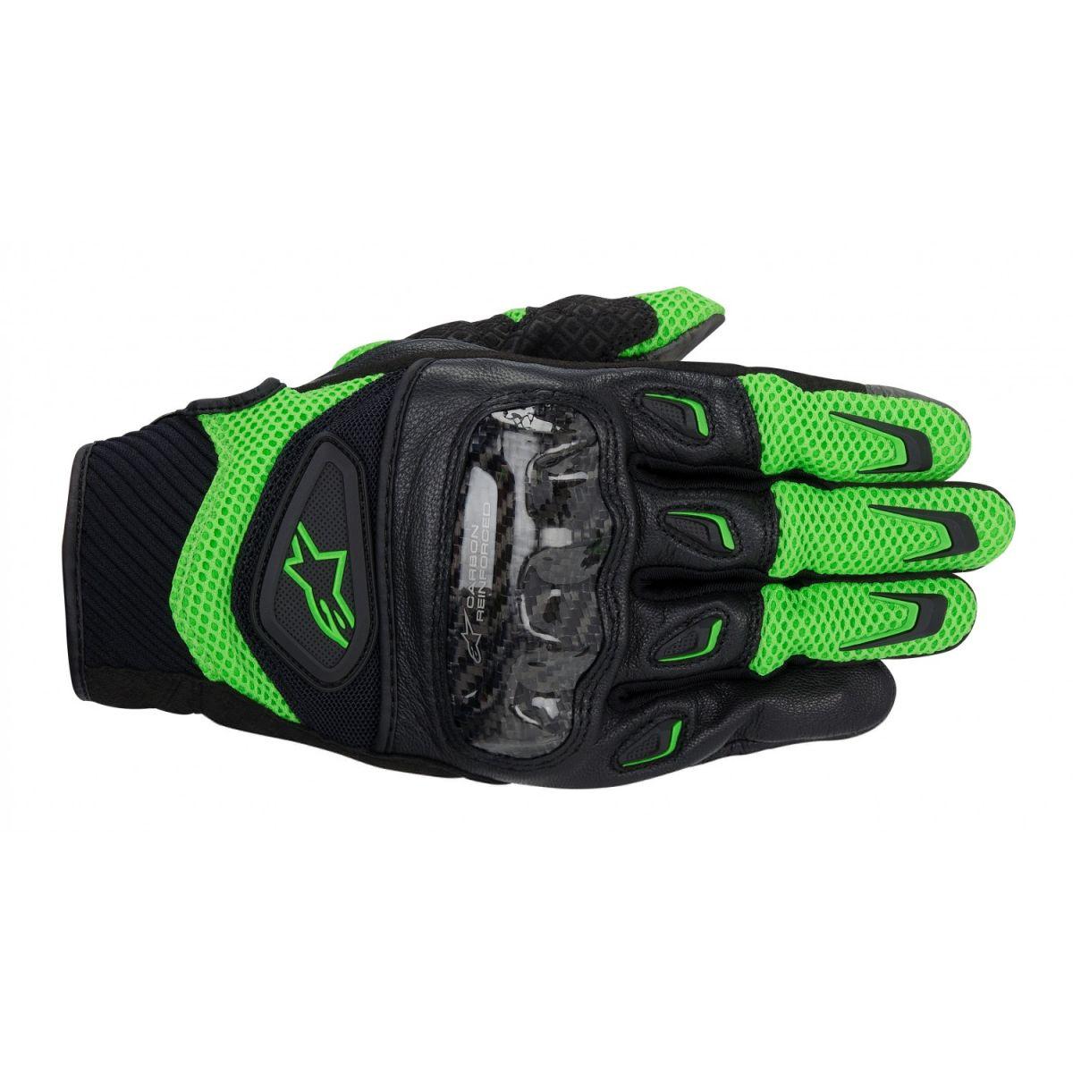 Luva Alpinestars SMX-2 Air Carbon Green/Black  - Nova Suzuki Motos e Acessórios