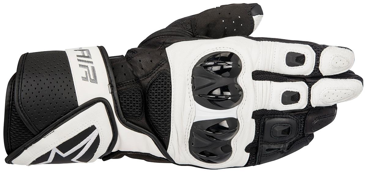 Luva Alpinestars SP-Air - Couro (Black/White)  - Nova Suzuki Motos e Acessórios