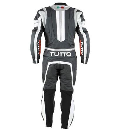 Macacão Tutto Moto Racing 1 pç Branco c/ Prata  - Nova Suzuki Motos e Acessórios