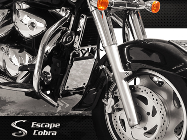 Protetor de Motor Tubolar Boulevard C1500 Cromo  - Nova Suzuki Motos e Acessórios