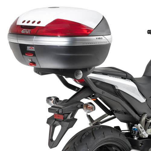 Monorack Givi 266FZ de baú traseiro para CB1000R 08-17  - Nova Suzuki Motos e Acessórios
