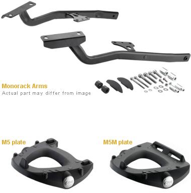 Base/Monorack Givi 1137FZ p/ Honda CB650/CBR650 14 - Pronta Entrega  - Nova Suzuki Motos e Acessórios