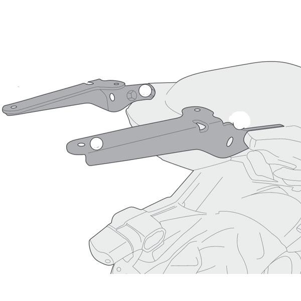Monorack p/ Baús Givi Específico para Kawasaki Versys 650 15 (SR4114) (Não Acompanha Base) Pronta Entrega  - Nova Suzuki Motos e Acessórios