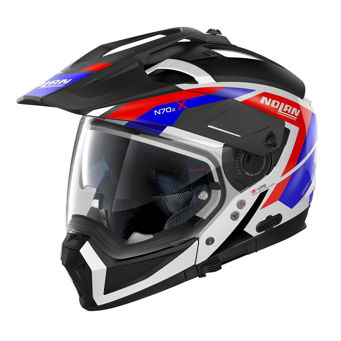 Capacete Nolan N70-2 X Grandes Alpes Tricolor - Big Trail / Off Road  - Nova Suzuki Motos e Acessórios