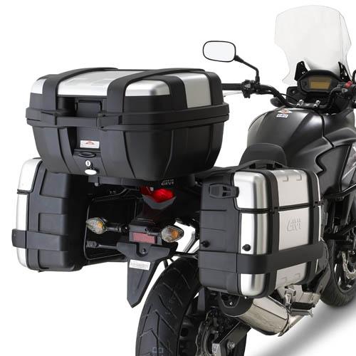 Suporte Lateral PL1121 Givi p/ baú E-21N, E-360N, DLM30, E41 ou Trekker CB500X  (Pronta Entrega)  - Nova Suzuki Motos e Acessórios