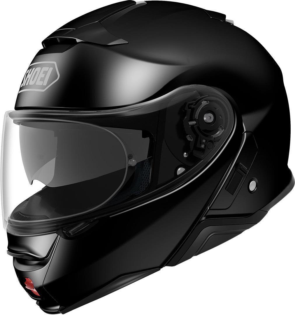 Capacete Shoei Neotec 2 Preto Brilhante Escamoteável/Articulado  - Nova Suzuki Motos e Acessórios