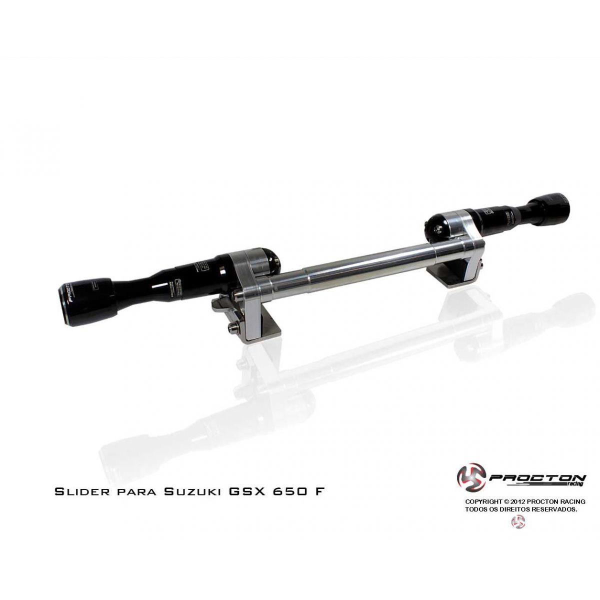 Slider Dianteiro Procton  com Amortecimento GSX 650F (09-14)  - Nova Suzuki Motos e Acessórios
