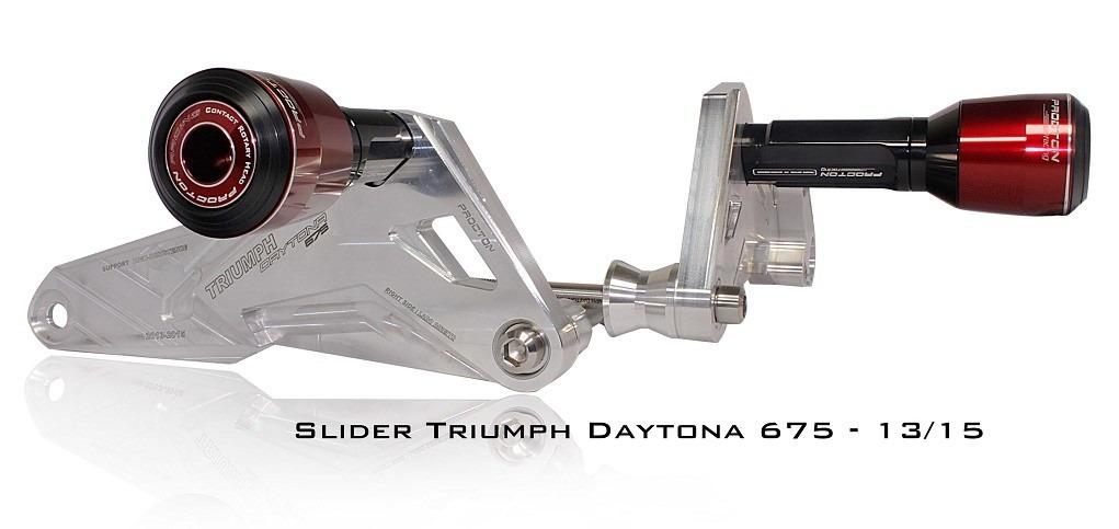 Slider Dianteiro Procton com Amortecimento p/ Daytona 675 13/16 ( nylon rotativo)  - Nova Suzuki Motos e Acessórios