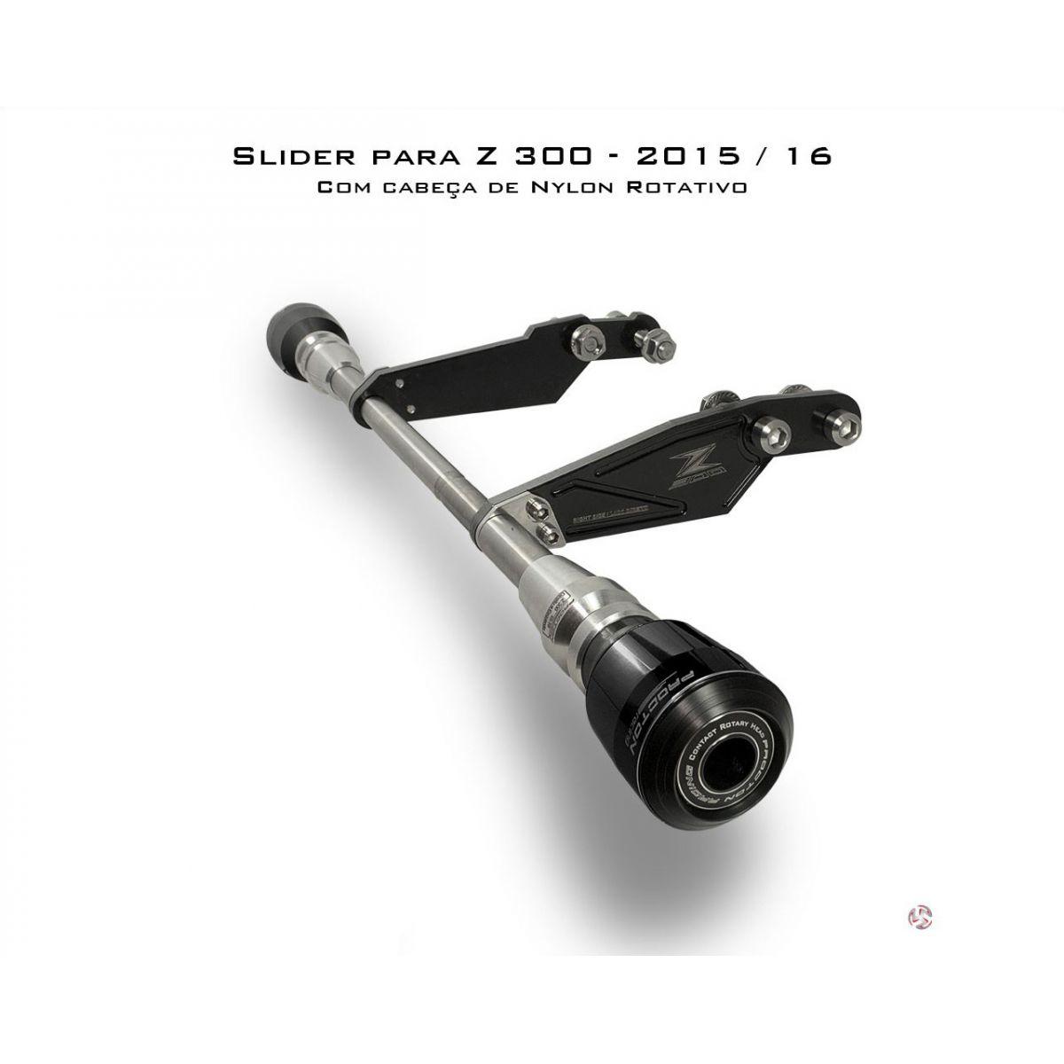 Slider Dianteiro Procton com Amortecimento p/ Z300 - 15/16  - Nova Suzuki Motos e Acessórios