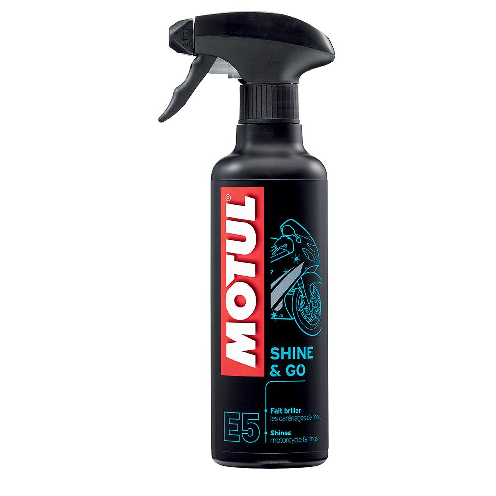 Spray Motul E5 Shinee Go - Silicone/Cera para Peças Plásticas 400ML  - Nova Suzuki Motos e Acessórios
