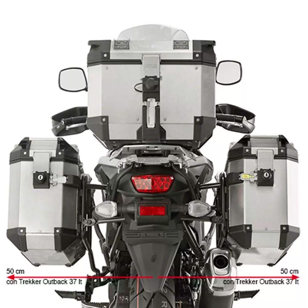 Suporte Lateral Givi PL3112CAM p/ Vstrom 650 17/18 (Trekker Outback)  - Nova Suzuki Motos e Acessórios