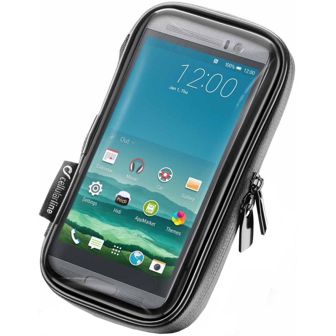 Suporte de Telefone Para Moto Universal Uni Case Holder 52 (Cellularline)  - Nova Suzuki Motos e Acessórios