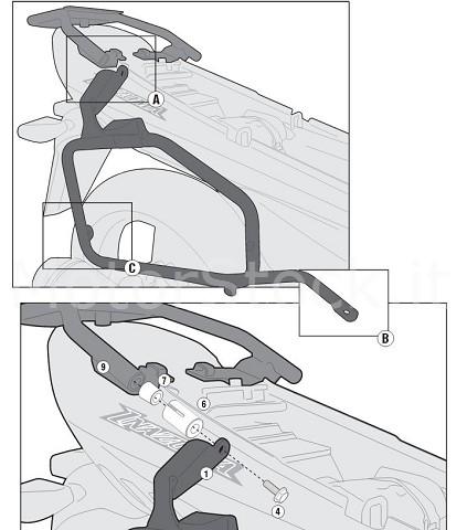 Suporte lateral Givi PL3103  - Nova Suzuki Motos e Acessórios