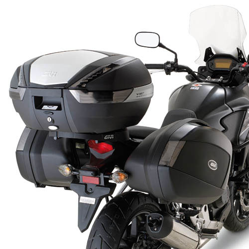 Suporte lateral Givi PLX1121 p/ baú v35 CB500X 13-15  - Nova Suzuki Motos e Acessórios