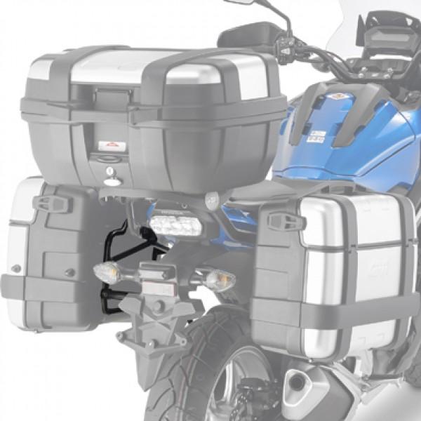 Suporte lateral Givi PLX1146 p/ Honda NC750X 16/17 Específico p/ Baú V35 (CONSULTE-NOS)  - Nova Suzuki Motos e Acessórios