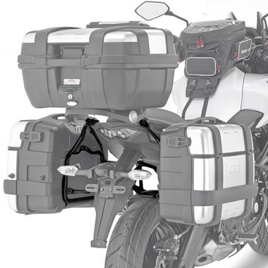 Suporte Lateral Givi PL4114 para Versys 650 15/17 - (Malas E21/E41/E360/Trekker - Pronta Entrega)  - Nova Suzuki Motos e Acessórios