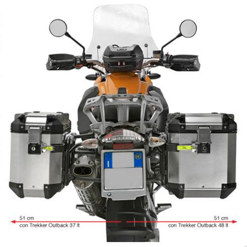 Suporte Lateral PL5108CAM para baú Givi OUTBACK TREKKER - BMW R1200 gs 13/18 / ADV 14/17- Consulte-nos  - Nova Suzuki Motos e Acessórios