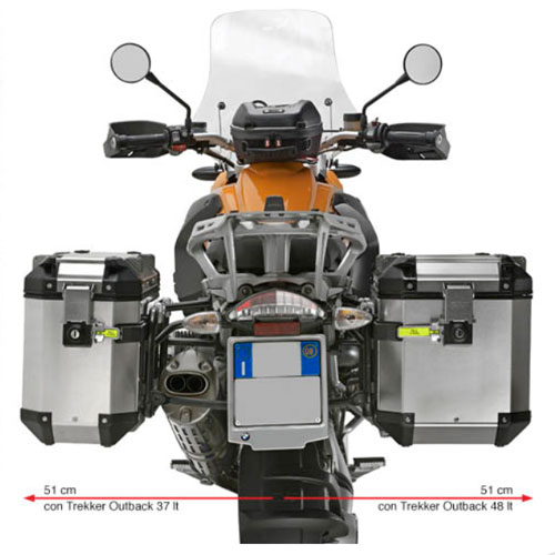 Suporte Lateral PL684CAM para baú Givi OUTBACK TREKKER - BMW R1200GS 04-12 e Adventure 06/13- Consulte-nos  - Nova Suzuki Motos e Acessórios