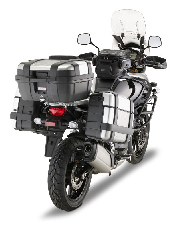 Suporte Lateral Givi PLR3105 Engate rápido para V-Strom 1000 14 à 18 - (Baús E21 / E41 / E360 / TREKKER)  - Nova Suzuki Motos e Acessórios