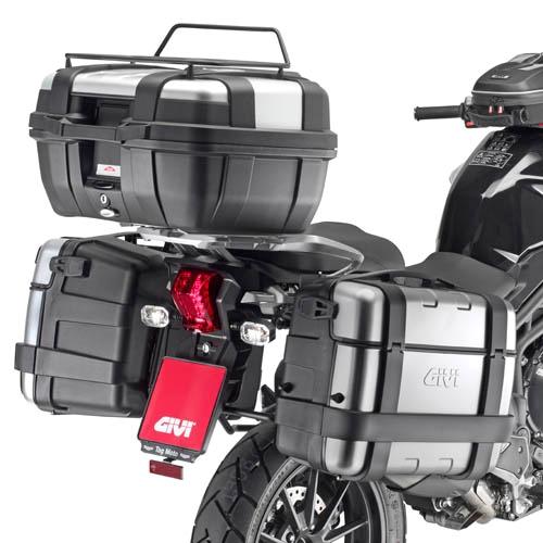 Suporte Lateral PLR6403 Givi (E21 e E22/E41/E360/TREKKER) - Triumph Tiger 1200 2014  - Nova Suzuki Motos e Acessórios