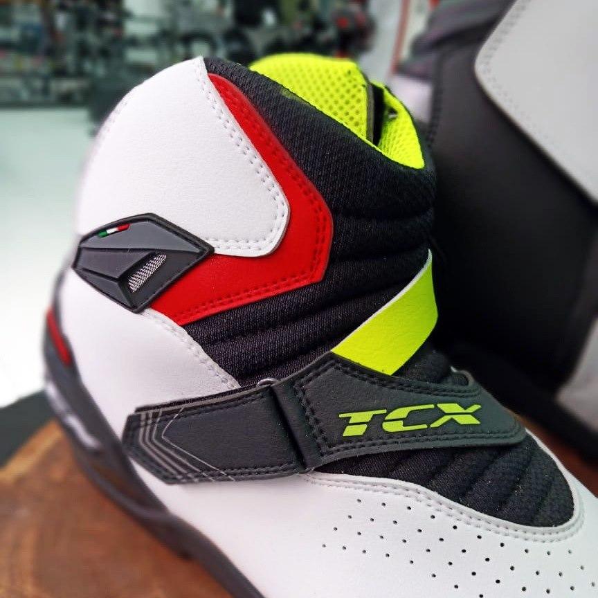 Tênis de Pilotagem/Bota TCX ROADSTER 2 AIR Preto/Vermelho/Amarelo  - Nova Suzuki Motos e Acessórios