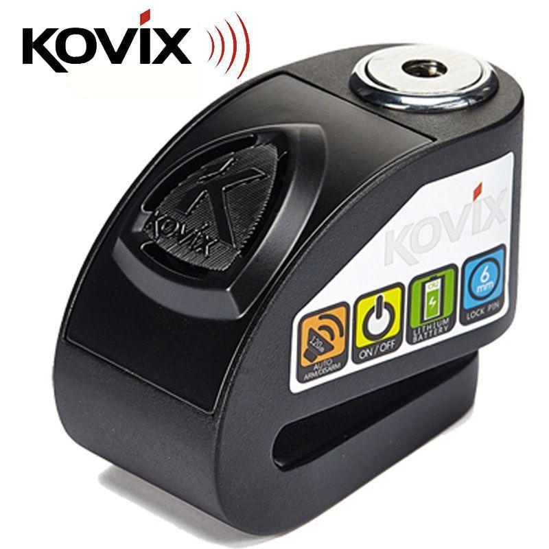Trava de Disco Kovix Preta (com alarme)  - Nova Suzuki Motos e Acessórios