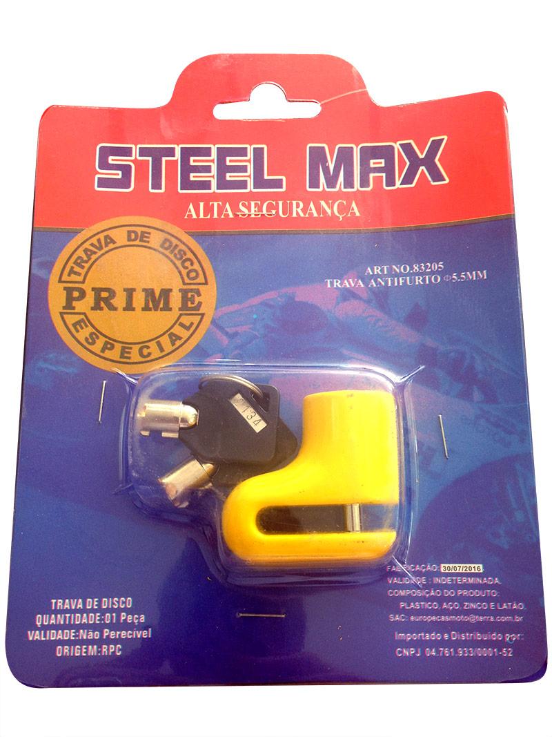 Trava de Disco Max Steel  - Nova Suzuki Motos e Acessórios