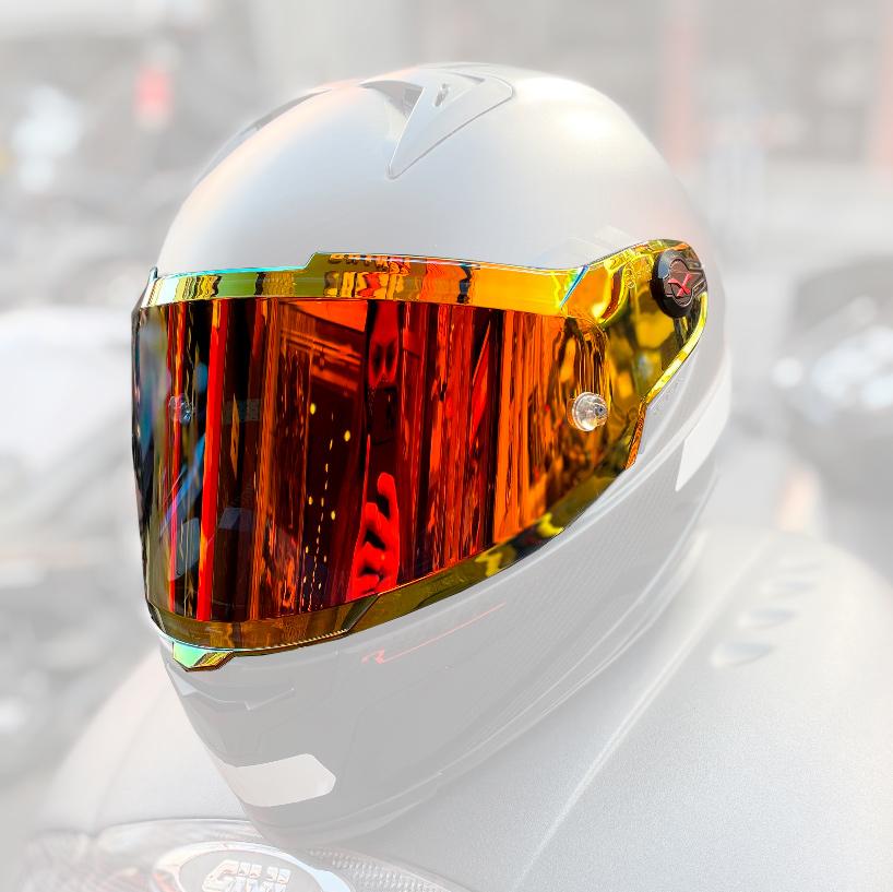 Viseira Nexx XR2 Espelhada Vermelha/Laranja Redline  - Nova Suzuki Motos e Acessórios