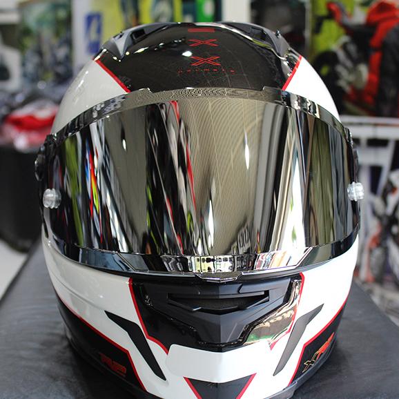 Viseira Nexx XR2 Espelhadas (Prata ou Azul)  - Nova Suzuki Motos e Acessórios