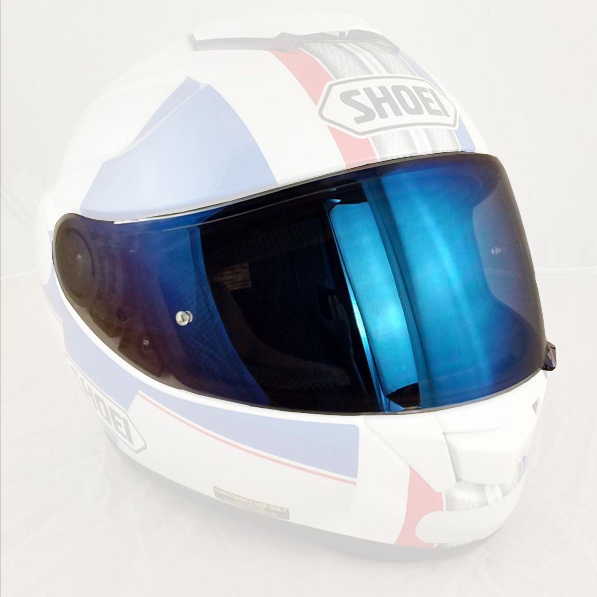 Viseira Shoei CNS-1 Espelhada Azul c/ Pino de Pinlock ( para GTAir ou Neotec)  - Nova Suzuki Motos e Acessórios