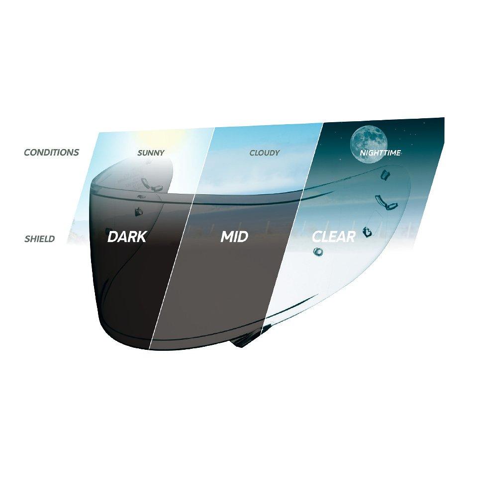 Viseira Shoei CWR-1 para NXR/X-Spirit III c/ Pino Pinlock (Transition)  - Nova Suzuki Motos e Acessórios