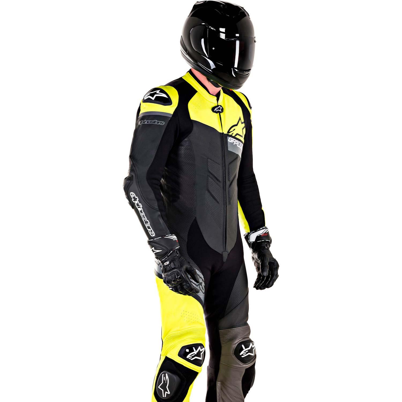 0 Macacão Alpinestars GP Plus Venom Preto / Amarelo - 1 Peça  - Super Bike - Loja Oficial Alpinestars