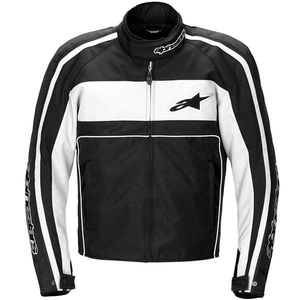 Jaqueta Alpinestars T-Dyno WP (Black White)  - Super Bike - Loja Oficial Alpinestars