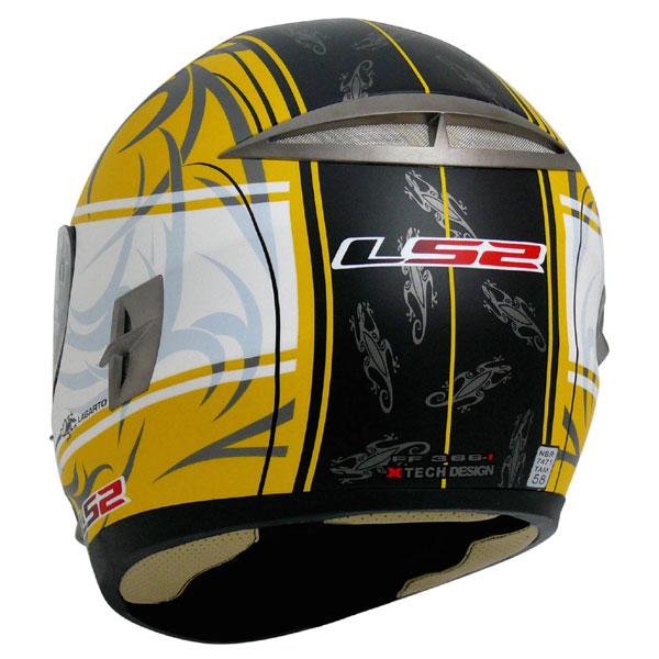 Capacete Ls2 FF366 Lagarto Amarelo fosco  - Super Bike - Loja Oficial Alpinestars