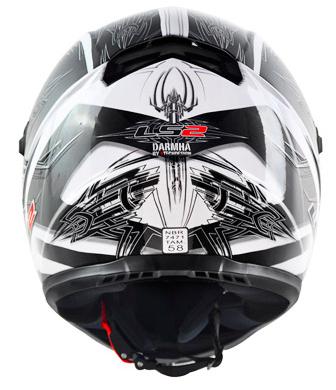 Capacete LS2 FF358 Darmha - Branco c/ preto  - Super Bike - Loja Oficial Alpinestars