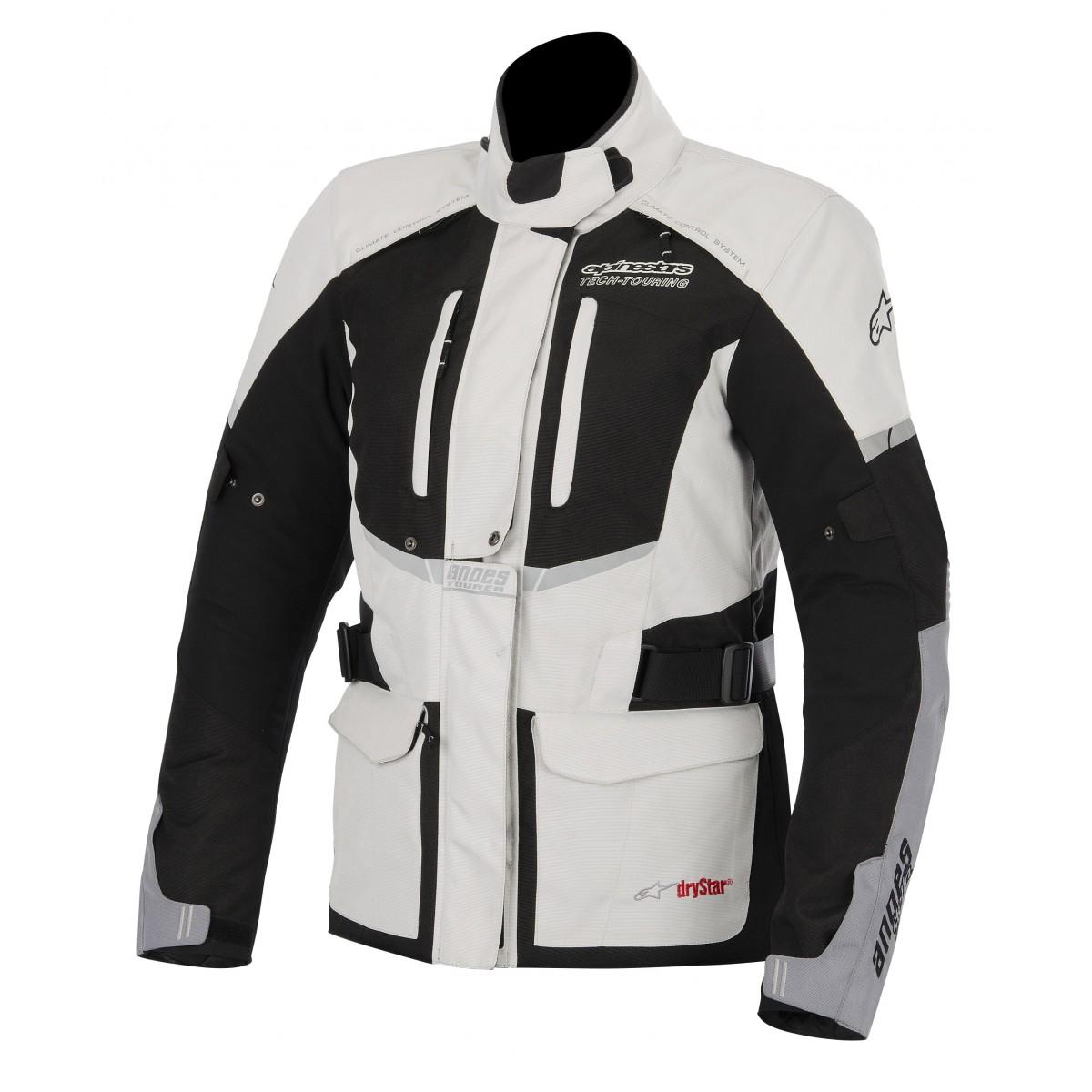 Jaqueta Alpinestars Stella Andes Drystar® WP Cinza Claro/ Feminina para Big Trail  - Super Bike - Loja Oficial Alpinestars