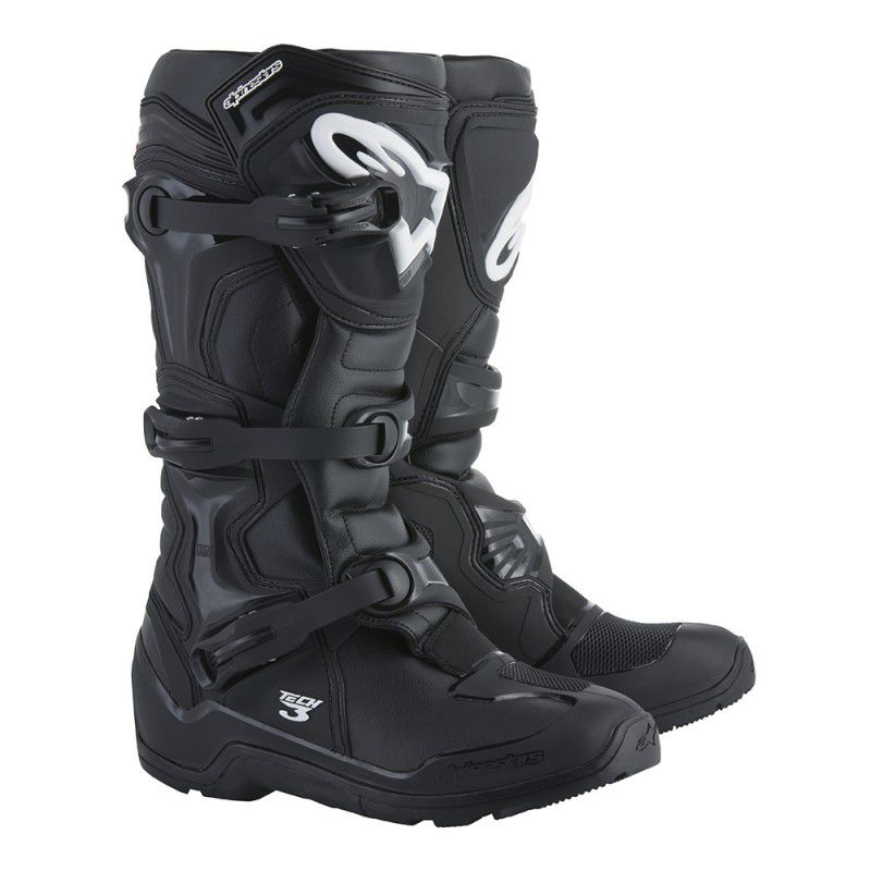 Bota Alpinestars Tech 3 Enduro Preto - Cross - Off-Road - Somente pelo site  - Super Bike - Loja Oficial Alpinestars