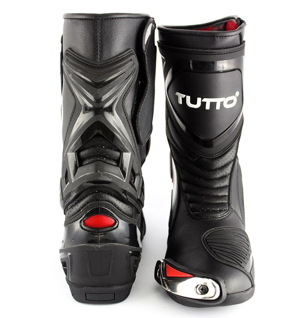 Bota Tutto Moto Qatar Racing Preto - Esportiva  - Super Bike - Loja Oficial Alpinestars
