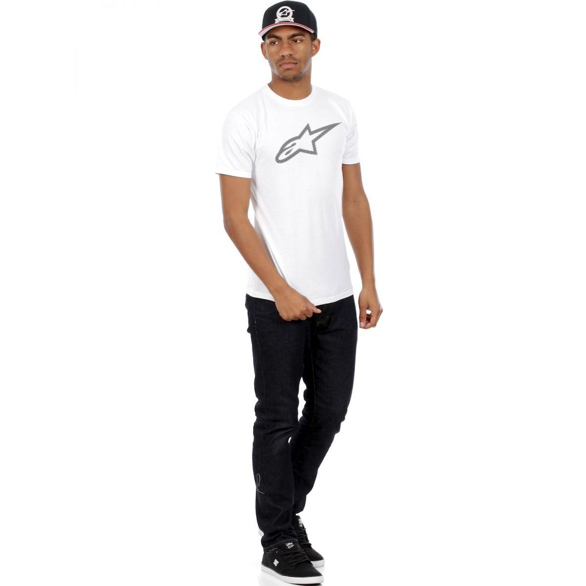 Camiseta Alpinestars Ageless Carbon White  - Super Bike - Loja Oficial Alpinestars