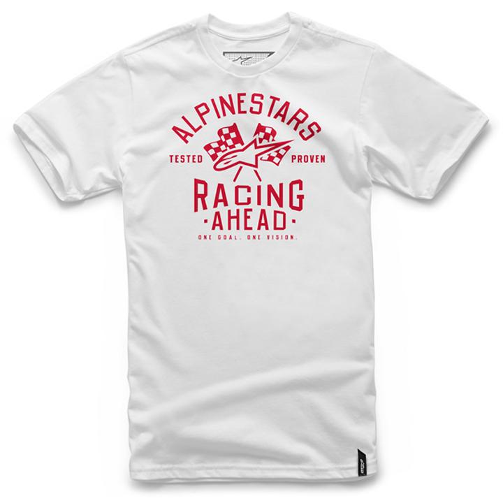 Camiseta Alpinestars Ahead Tee (White) Lançamento 2016  - Super Bike - Loja Oficial Alpinestars